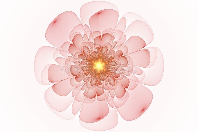 Fractalen blommar fantasi vektor illustrationer