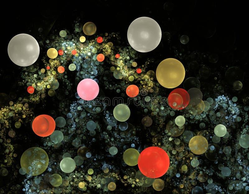 Fractales de la burbuja stock de ilustración
