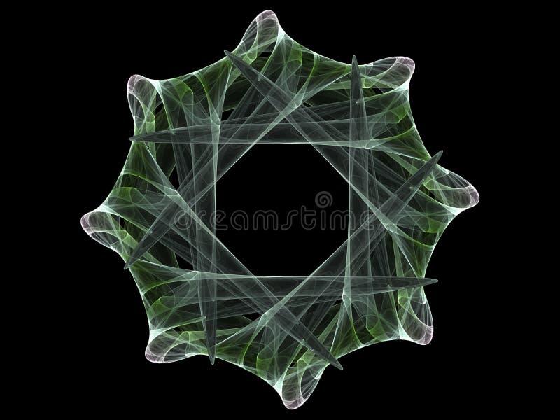 fractalhjul vektor illustrationer