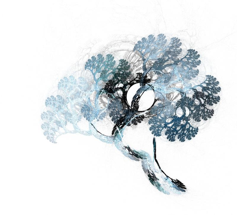 Fractalillustration des fantastischen Baums Fabelhaftes und Fractalmuster stock abbildung