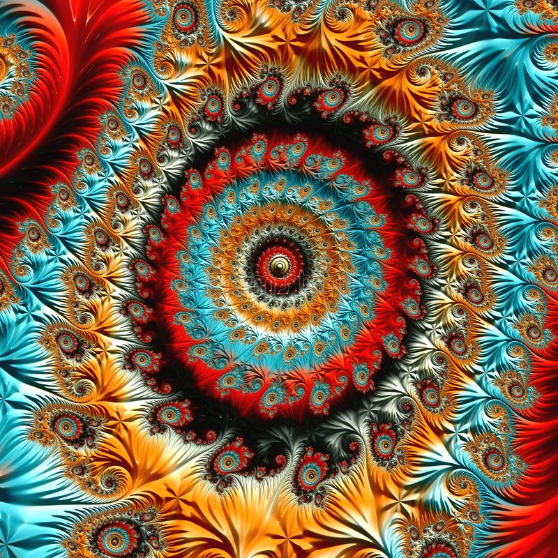Fractalkonstverk royaltyfri illustrationer