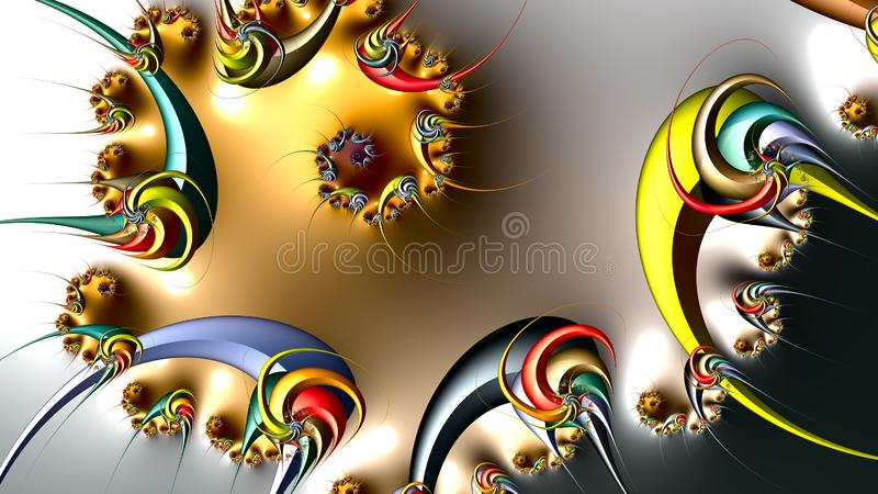 Fractalkonstverk stock illustrationer