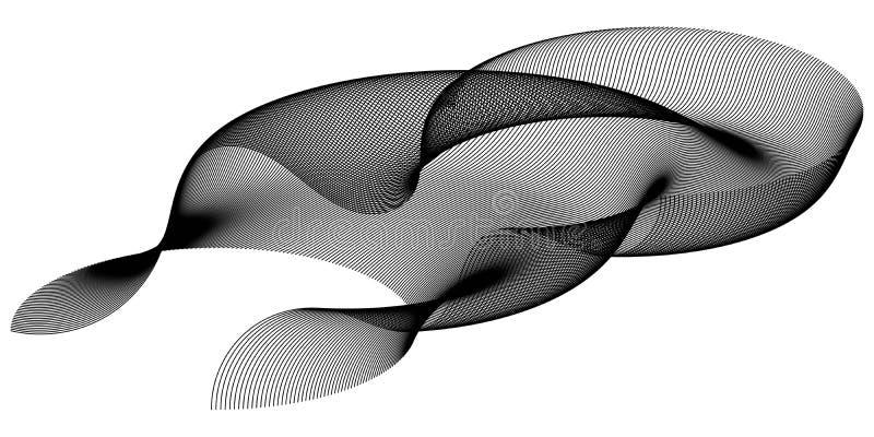 Fractalkrökning av ingreppet för våg för partikel för utrymmeabstrakt begrepp 3d i cyberteknologistil, teknologi för abstrakt beg stock illustrationer