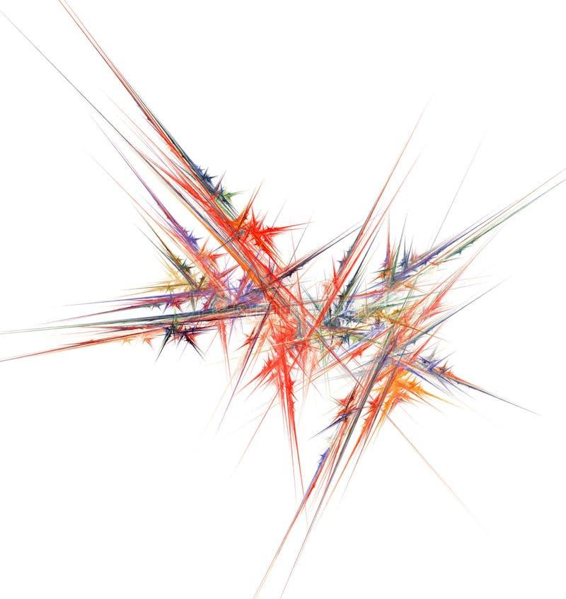 fractallinjer vektor illustrationer