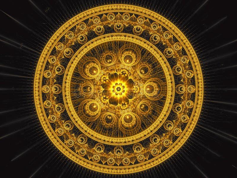 Fractalmandala - frambragd bild för abstrakt begrepp digitalt royaltyfri illustrationer