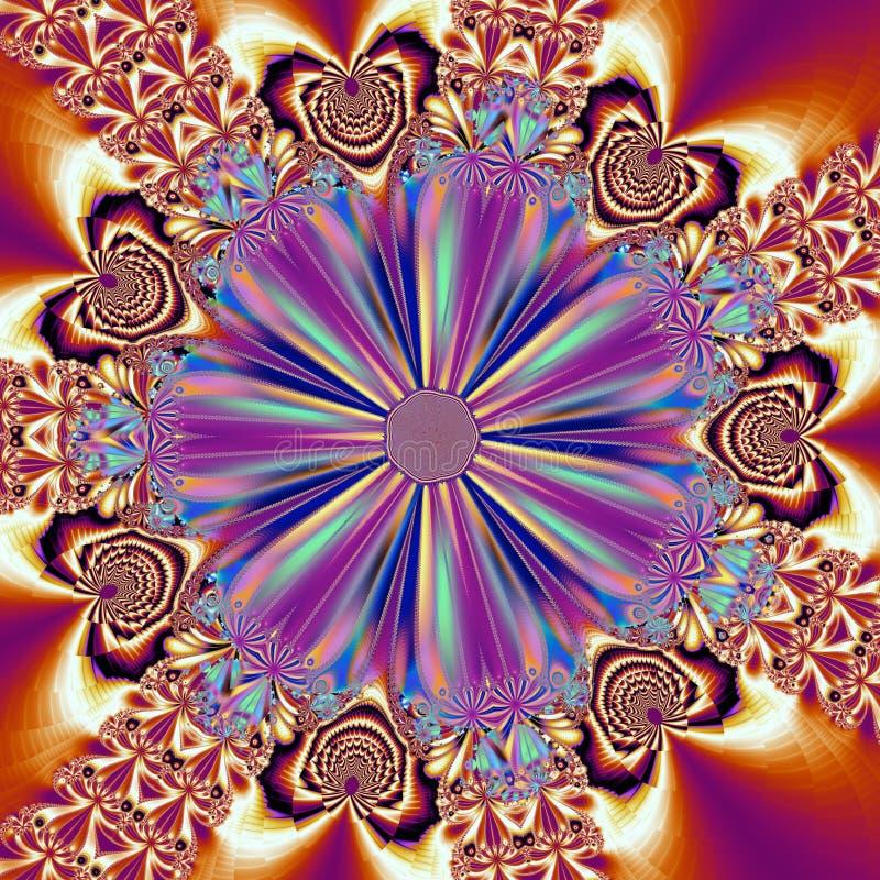 fractalmodellsnowflake arkivfoto