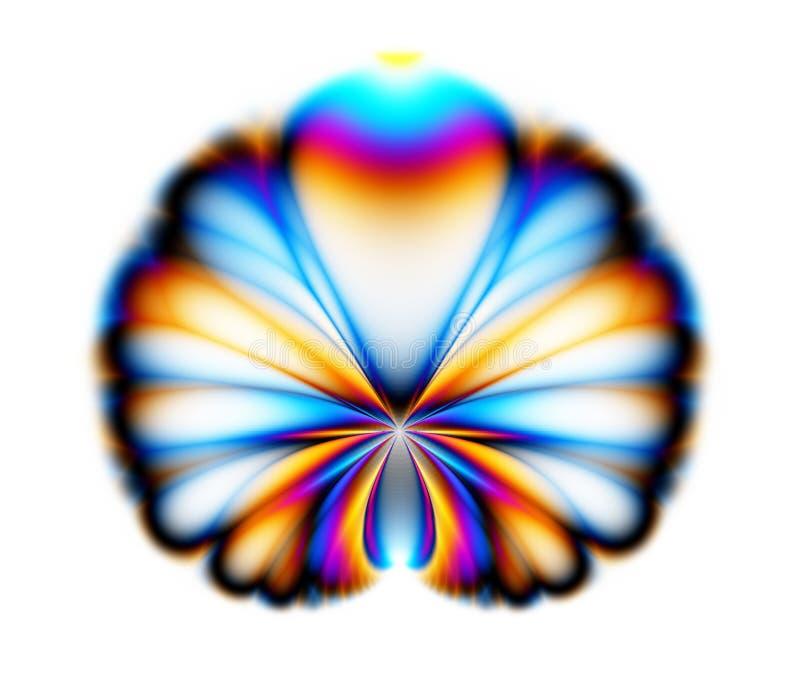 fractalpåfågel royaltyfri illustrationer