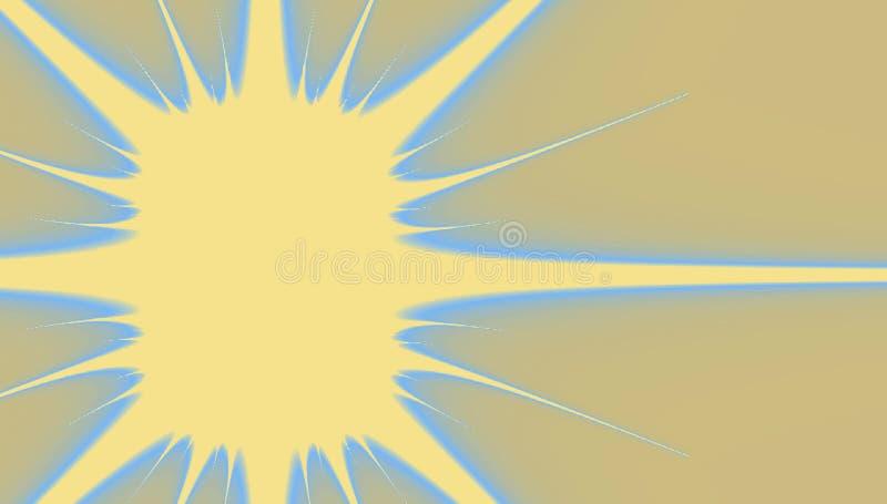 Fractalpapieraufkleber in der Form des Sternes auf beige Hintergrund, Bänder und Rahmen, Ausweis copyspace Ikone für spezielles o lizenzfreie abbildung