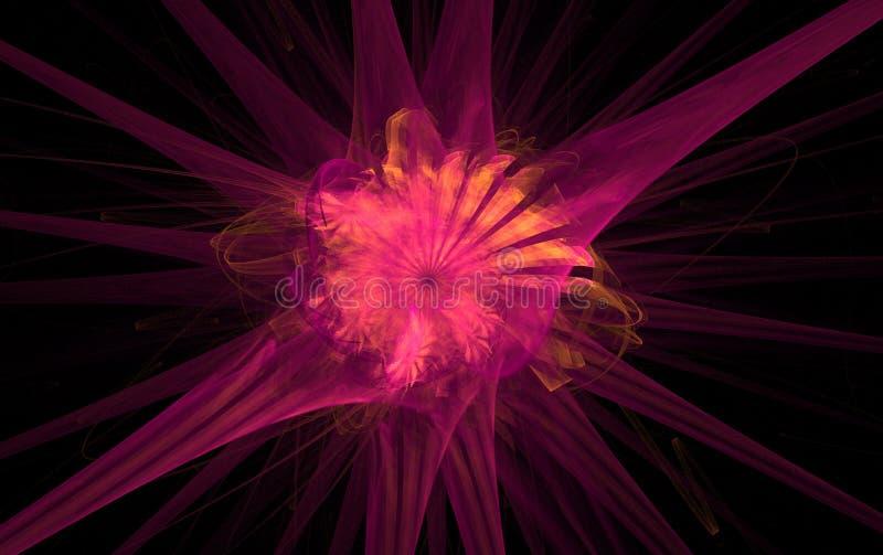 fractalpink royaltyfri illustrationer