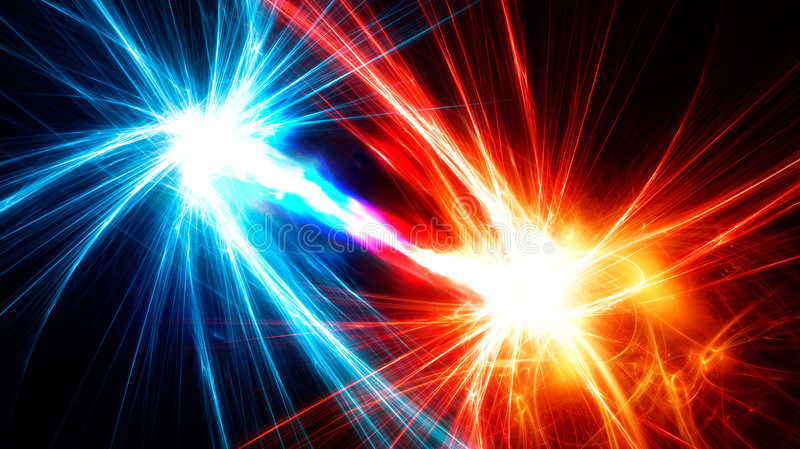 Fractals abstratos com fluxo de energia entre elas ilustração royalty free