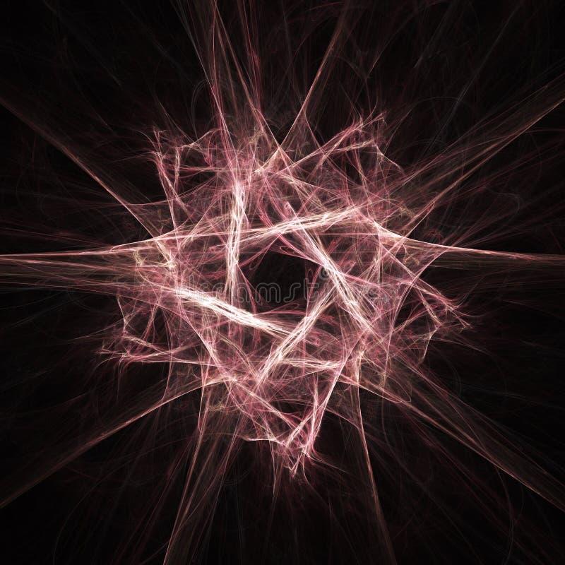 fractalstjärna vektor illustrationer