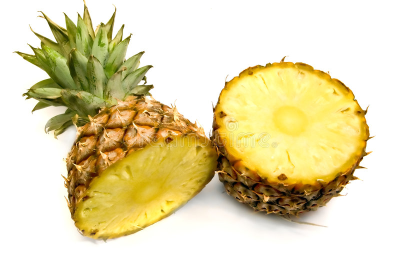 fractionnement d'ananas image stock