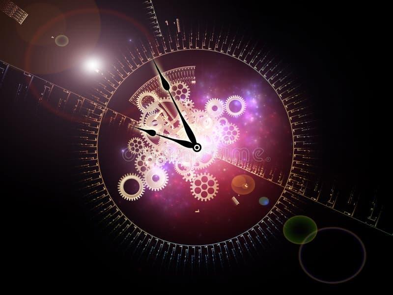 Fractions de temps illustration stock