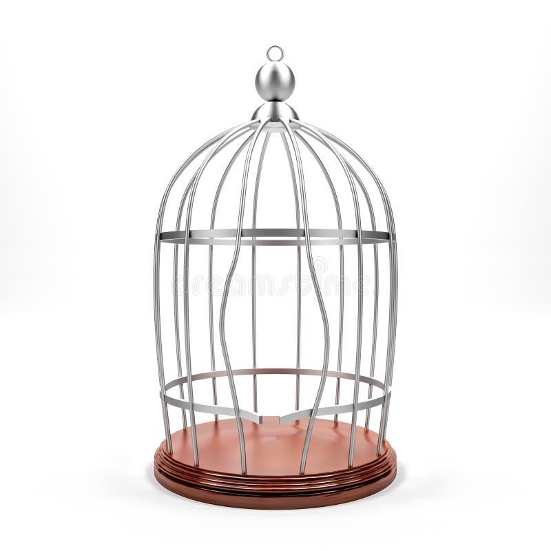 Fractura de la jaula stock de ilustración