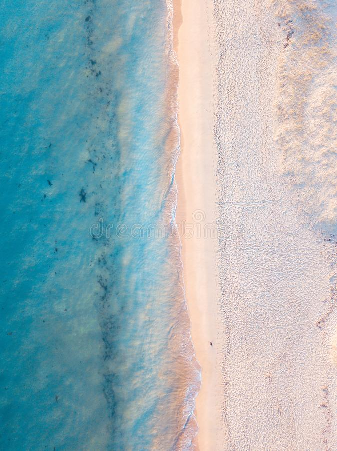 Fractura de la playa imagen de archivo