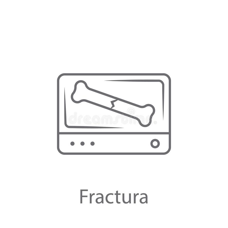 Fracture icon. Simple element illustration. Fracture symbol design from Insurance collection set. Can be used for web and mobile. On white background royalty free illustration