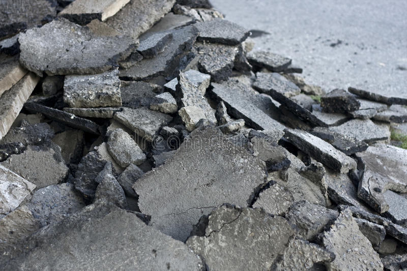 Fractured concrete surface royalty free stock photo