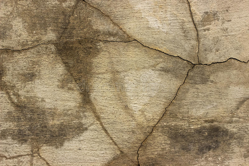 Fractured concrete surface closeup background or texture. royalty free stock photo