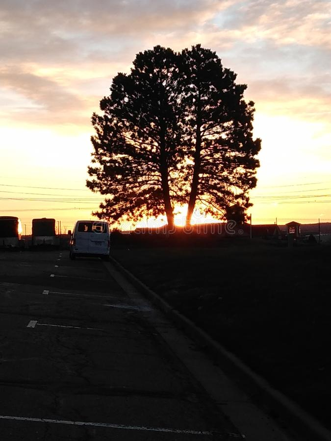 Through the fractured morning. Cold sunrise fractured morning dtc colorado stock images