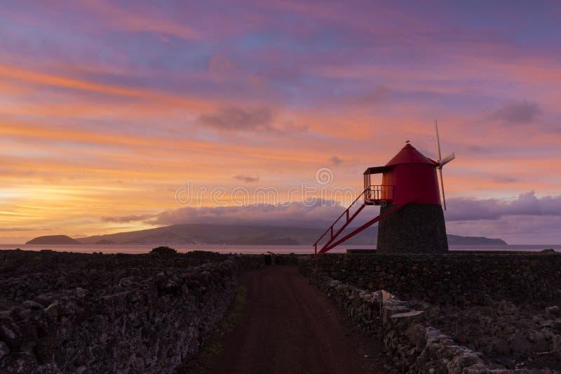 Frade Windmühle stockbilder