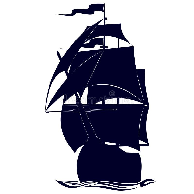 Fragata das forças armadas do contorno ilustração stock