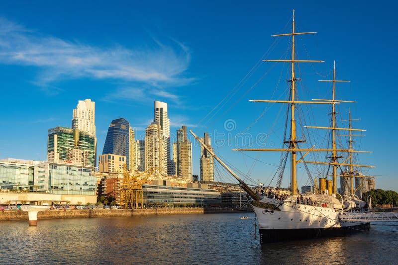 Fragata Sarmiento is een museumschip in Argentinië, oorspronkelijk als opleidingsschip wordt gebouwd voor de Argentijnse Marine d stock foto