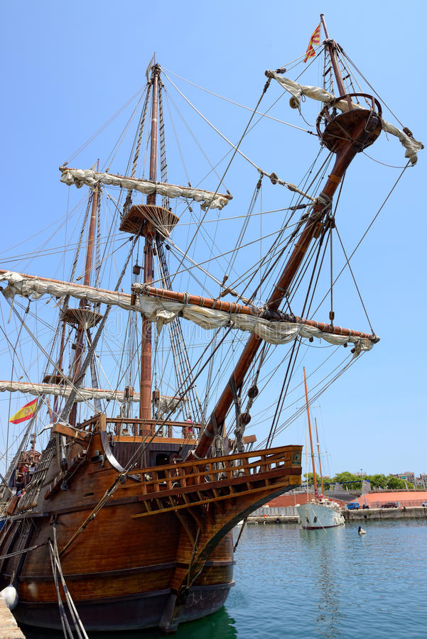 Fragata velha imagens de stock