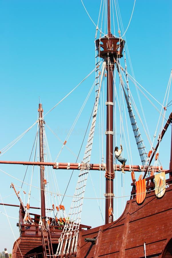 Fragata velha foto de stock