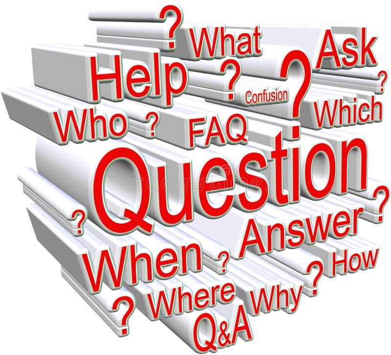 Frage über Weiß stock abbildung