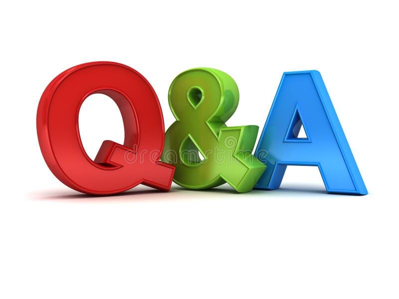 Frage und Antworten-Konzept Q und a-Text vektor abbildung