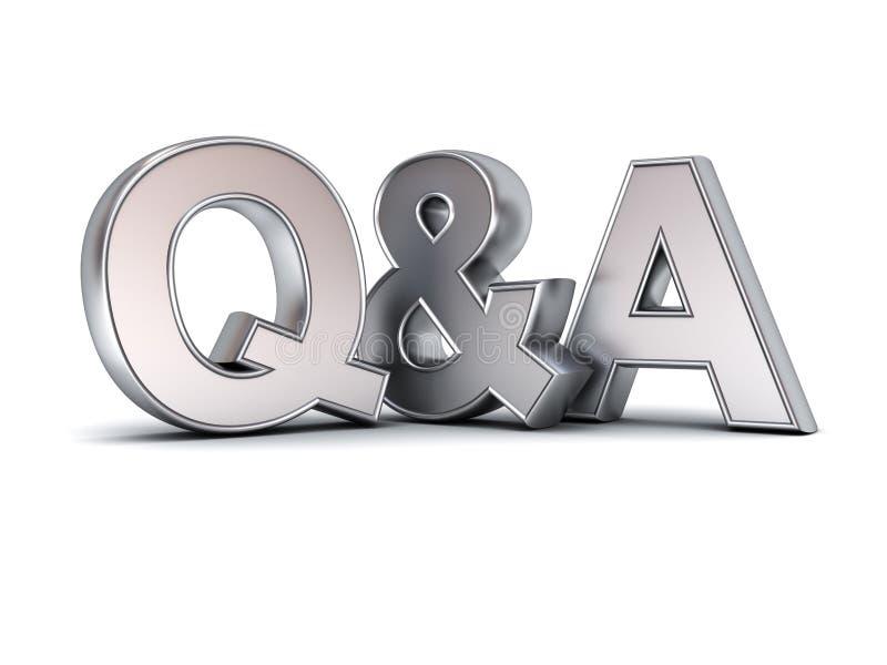 Frage und Antworten-Konzeptmetall Q und a-Text vektor abbildung