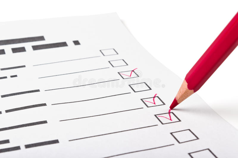 Fragebogen stockfoto