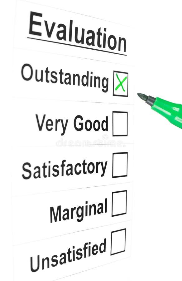 Fragebogen stockbild