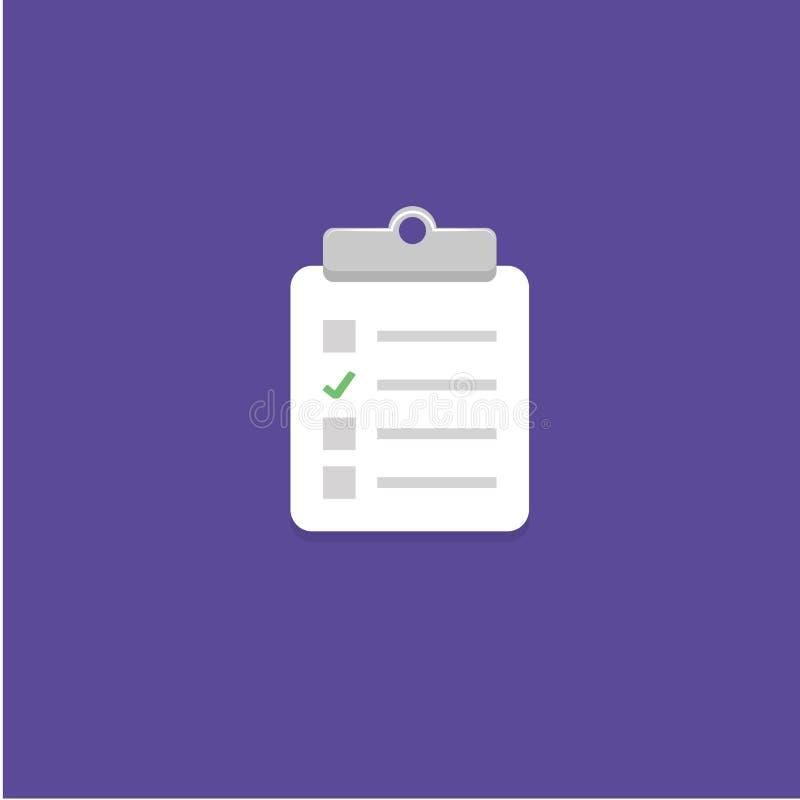 Fragebogen-Ikonen-Vektor-Illustration stockbilder