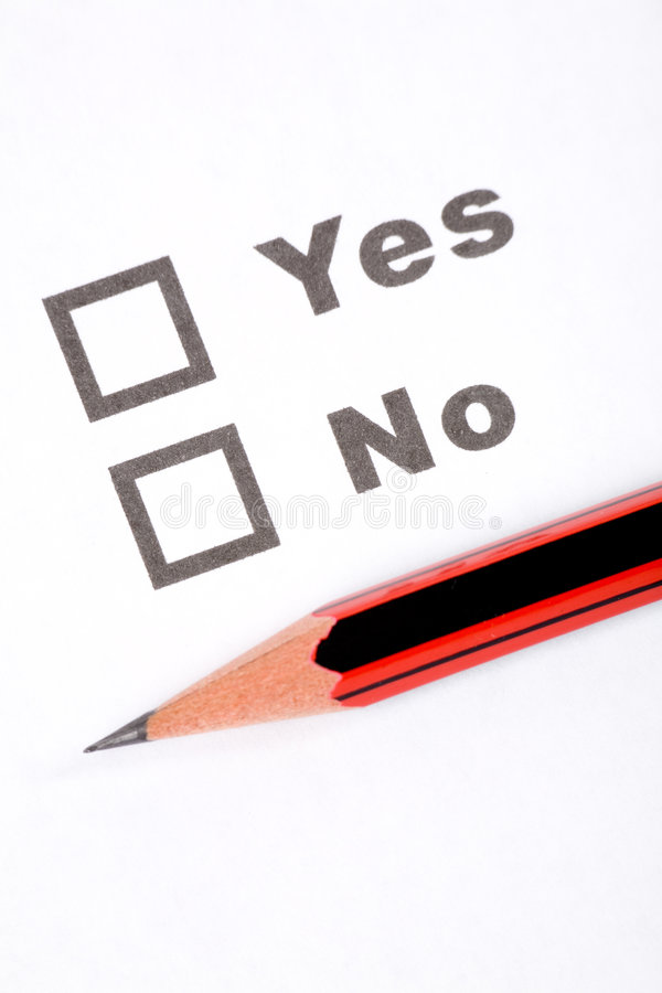 Fragebogen und Bleistift stockfoto