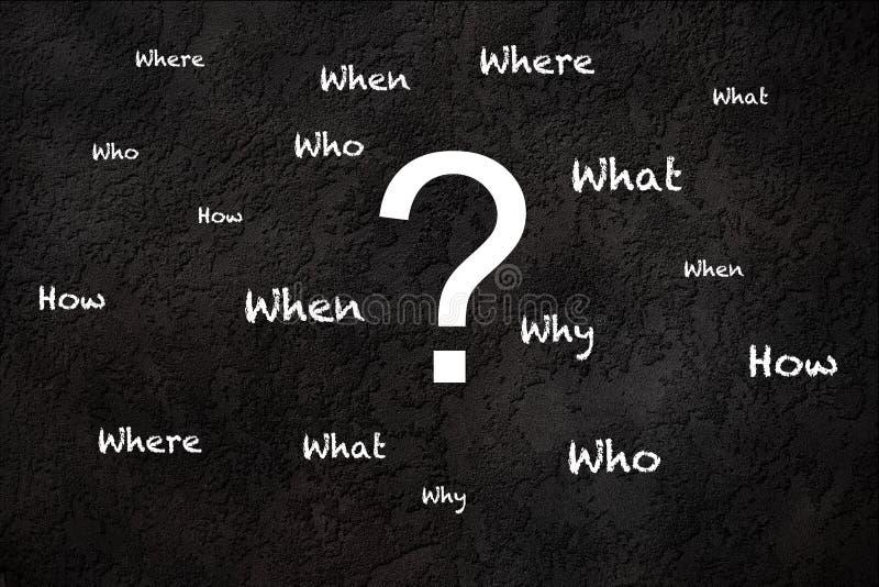 Fragen über einen strukturierten Hintergrund stock abbildung
