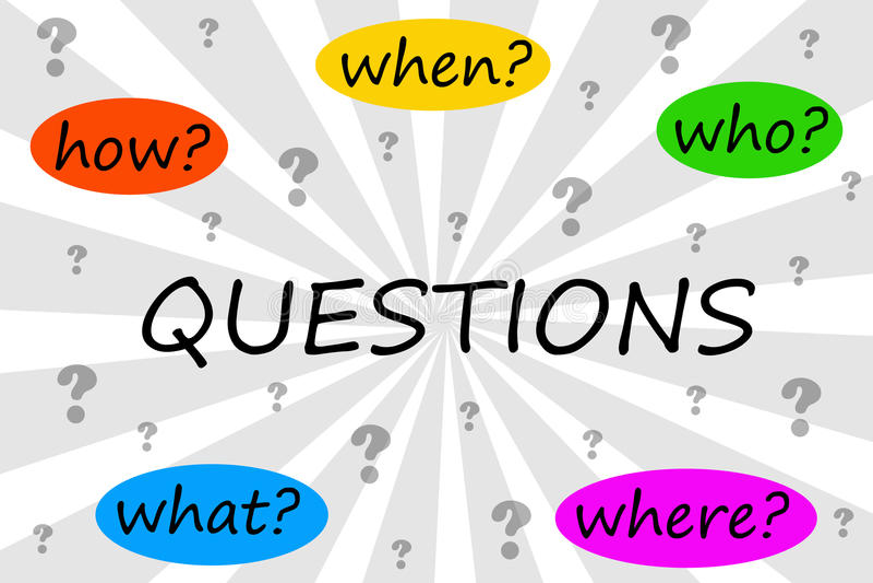 Fragen lizenzfreie abbildung