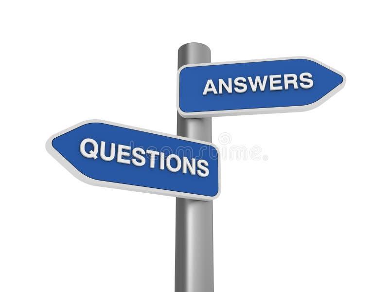 Fragen-Antworten auserlesen lizenzfreie abbildung