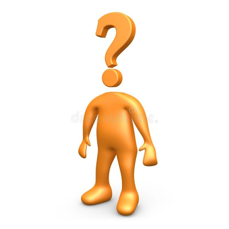 Fragen-Mann lizenzfreie abbildung