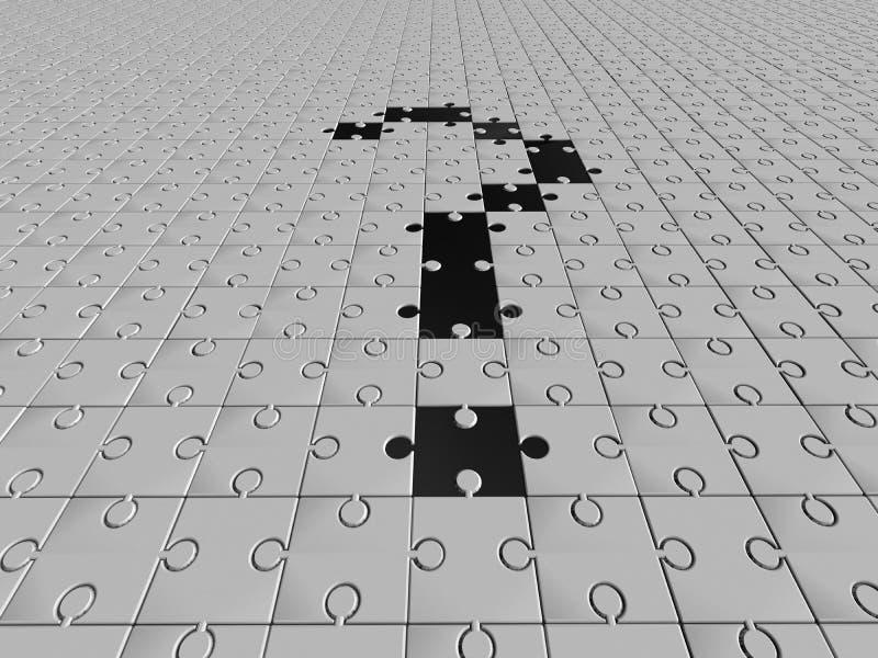 Fragen. Puzzlespiel lizenzfreie abbildung