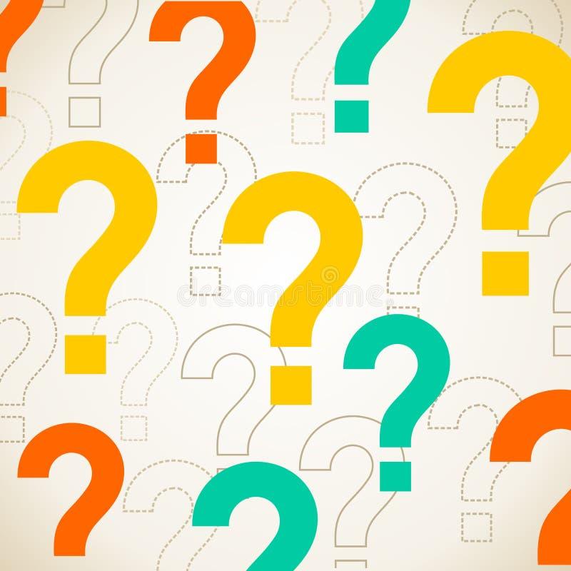 Fragen Sie Hintergrund lizenzfreie abbildung