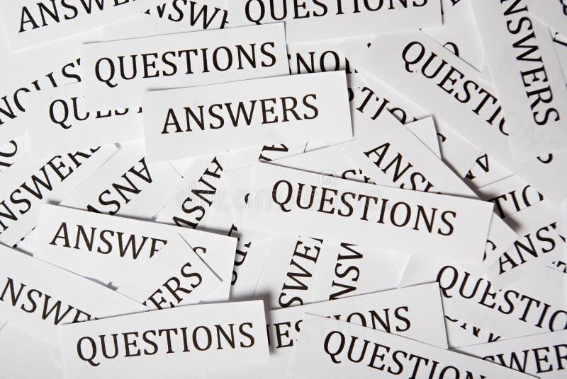 Fragen und Antwort lizenzfreie stockfotos