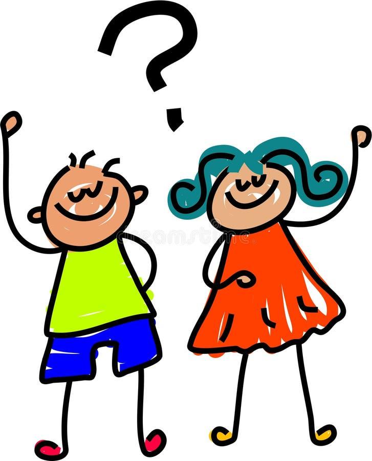 Fragenkinder vektor abbildung
