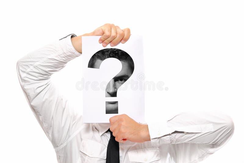 Fragezeichen lizenzfreies stockbild