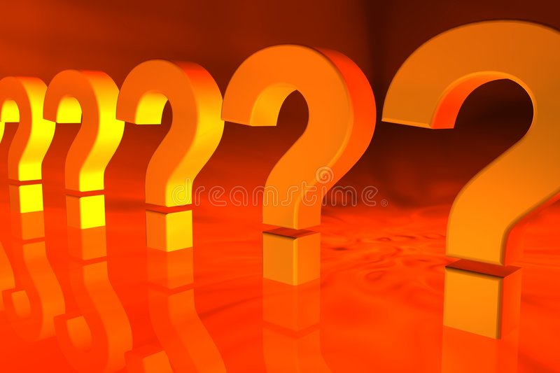 Fragezeichen Lizenzfreie Stockfotos