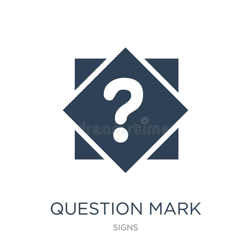 Fragezeichen-Knopfikone in der modischen Entwurfsart Fragezeichen-Knopfikone lokalisiert auf weißem Hintergrund Fragezeichenknopf vektor abbildung