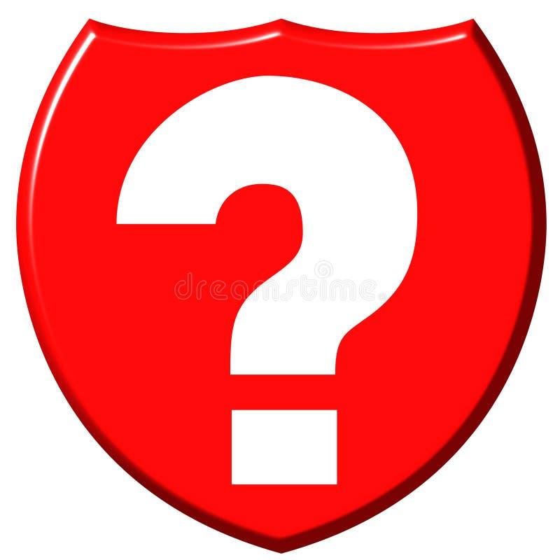 Fragezeichen-Schild stock abbildung