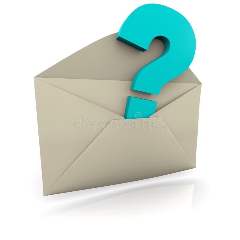 Fragezeichen-Umschlag