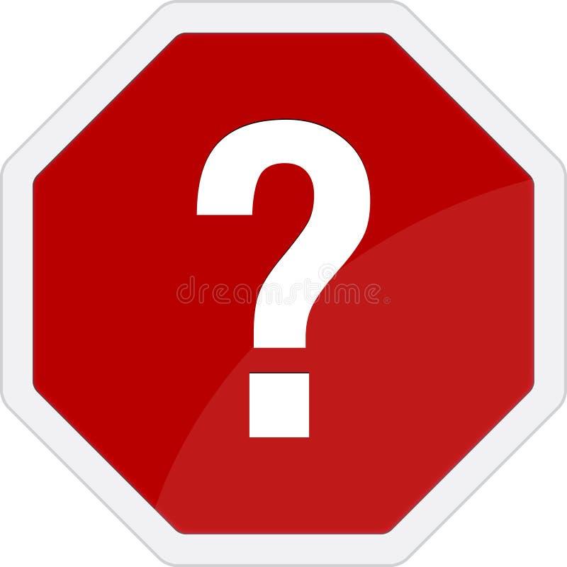 Fragezeichen-Verkehrszeichen lizenzfreie abbildung