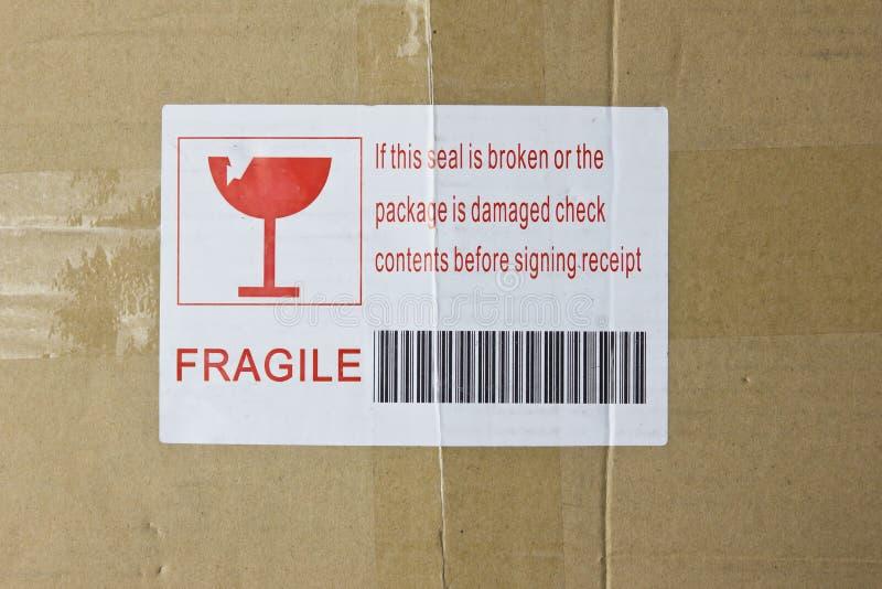 Fragile Box royalty free stock image